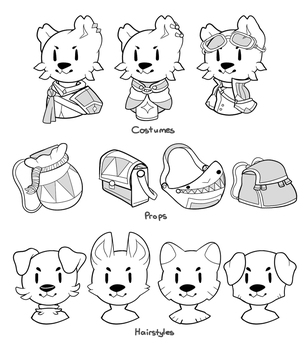 Woofer Costume Sheet by Captainier