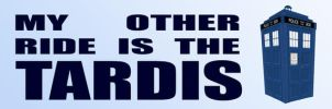 Tardis bumper sticker by tibots