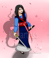 :contest: Mulan +-beautiful late bloom-+ by kimartess