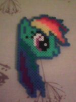 Rainbow Dash in Perler Beads by CaptainStonebelly