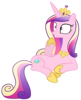 Suprised Princess Cadence by EkkitaTheFilly