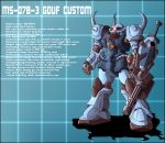 MS-07B-3 Gouf Custom Profile by zeiram0034