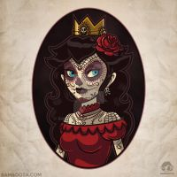 Princess Peach Skull Girl by Bamboota