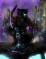 Panther Cyborg by Night-Forager