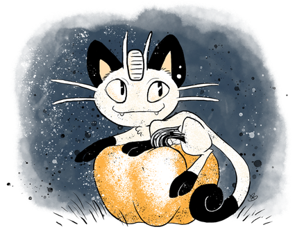 Inktober 1 Meowth by KibitzerMaxim