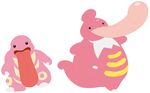 Lickitung and Lickilicky Base by SelenaEde