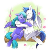 Moonstone and Frost Streak by Rycndel1337