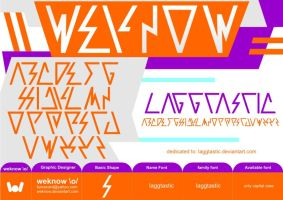 laggtasticfont_byweknow by weknow