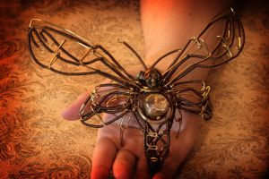 Steampunk Death Moth by CatherinetteRings