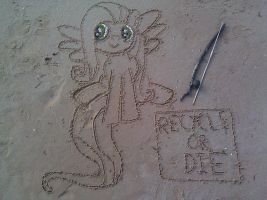 Fluttershy Sand Art by Recycle-Or-Die