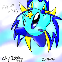 AquaKirby Colored by chibijou