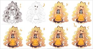 Coloring process SeeU by Neire-X