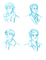 Sketches of Sherlock BBC cast by Accalialove
