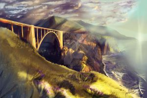 Bixby Bridge, Big Sur by chateaugrief