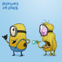 Minions on crack by AsherBuckley
