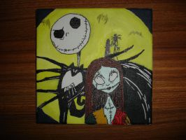 Jack and Sally 4ever by BatPumpkin