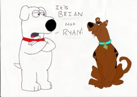 Brian correcting Scooby Doo by AndWii
