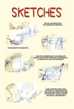 Undertown Issue 0 - Sketches 1 by FishTankPublishing