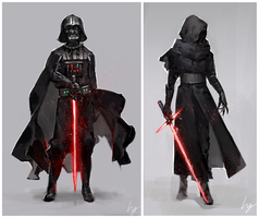 Darth Vader and Kylo Ren by hg1142
