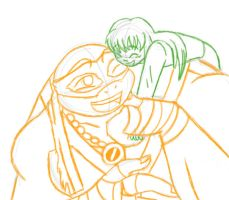 Michelangelo and kid April by AliceCherie