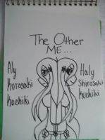 The Other Me Line Art by AlyHisanaKurosaki16