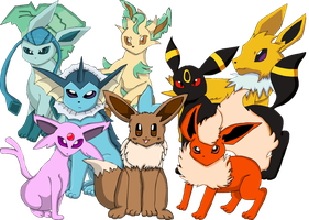 Eeveelutions by The-Tearful-Wolf