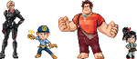 Wreck-It Ralph Sprites with Glitch by CherushiMetsumari