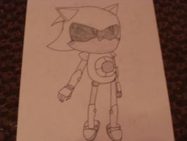 metal sonic .:uncolored:. by migi64
