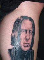 Severus Snape tattoo by Shadowtat