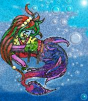 Mermaid and Bubbles by Taiya001
