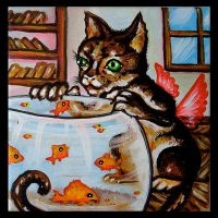 """""""Who let the cat out?"""" by oliecannoligriffard"""