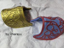 zelda shoulders armor by Narayu