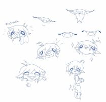 Practice drawings: Harris's mouth... And more? by PastelPastryClown