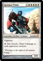 Magic the Gathering - Optimus by MattMatt39
