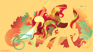 Sunset Shimmer Silhouette Wall by SambaNeko