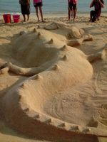 Sand Sculpture 02 by Xennethy
