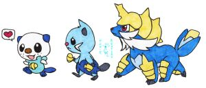 Walky Oshawott Line by Porcubird