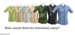 MMD Male casual shirts pack Download by Terrathde