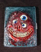 Terrorvision Inspired Alien Monster Cigarette Case by Undead-Art