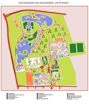 Efteling Map 1954 by TheoVision