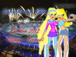 Gabrielle and Chloe at the London 2012 Olympics by DamnNintendoFan