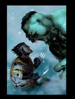 Wolverine vs The Hulk by 626Ghost