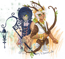 Ernya: Doll prince and Hunter prince by WolfsNeverDie