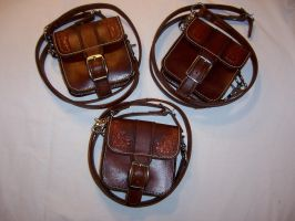 Small leather Purses by Altitude-Artisan