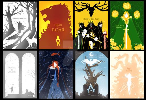 Game of thrones  Banners by mDiMotta