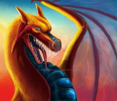 colorful dragon by InVidell