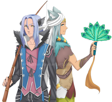 C: Rune Factory 4: Leon and Dylas by Mikouchan