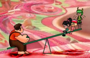Teeter Totter Trouble by Cartoon-Admirer