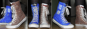 Doctor Who shoes :D by Ollis100