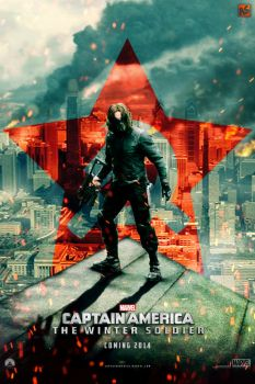 CA: The Winter Soldier teaser poster by AndrewSS7